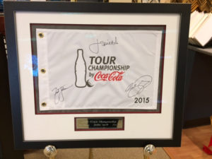 Framed PGA Tour Flag