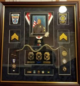 Marta Police Retirement Shadowbox